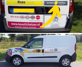 auto stichting proo met logo scheer en foppen installatietechniek